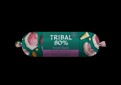 Tribal 80% Eend, Graanvrije worst 750 gr
