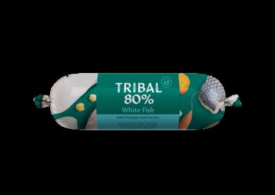 Tribal 80% Witvis, Graanvrije worst 750 gr