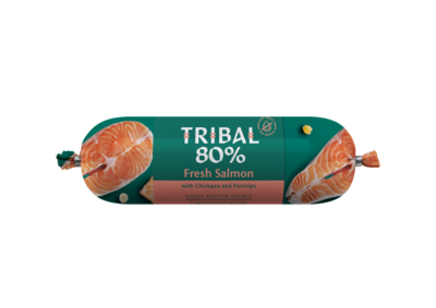 Tribal 80% Zalm, Graanvrije worst 750 gr