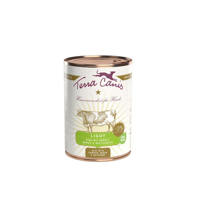 Terra Canis Light Menu 400 gr - Rund met pompoen, mango & artisjok