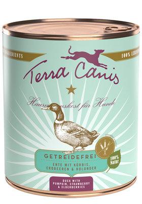 Terra Canis Graanvrij 800 gr - Eend met pompoen, aardbei & vlierbes